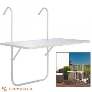 Луксозна закачаща се масичка за балкон и парапет, размери 51.5 х 39.0 см
