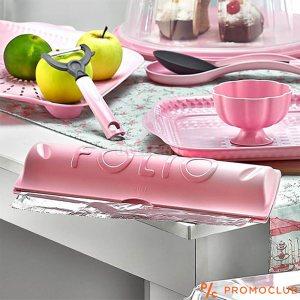 Кутия за домакинско фолио - алуминиево или стреч, с ножообразен ръб за рязане, ЦВЕТНА