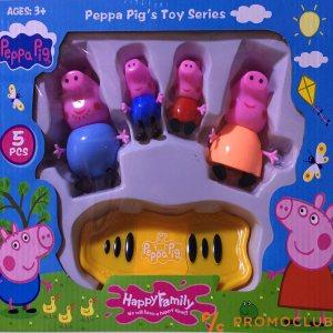 Peppa pig Цялото семейство със скейтборд