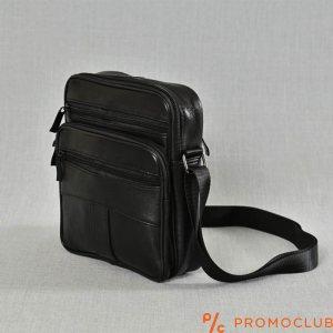 Среден размер мъжка чанта от естествена кожа, 2-16