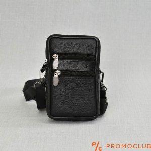 Малка мъжка чанта от естествена кожа COMPACT SPORT 6832