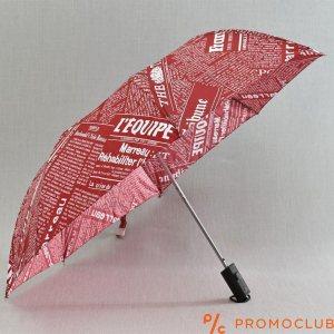 Чадър сгъваем, полуавтоматичен  с ергономична дръжка RED PAPER 21688