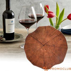 Комплект 4 броя дървени подложки за чаши под формата на дънер