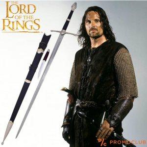 ТОП меч на БЪРЗОХОД (Арагорн) от Властелина на пръстените, комплект с кинжал в ножницата