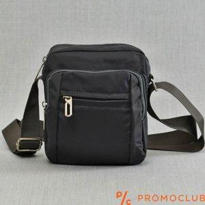 Мъжка чанта от текстил-сива 9881