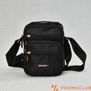 Спортна чанта от текстили- черна 22005
