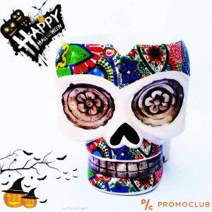 Стилен пепелник EL MUERTO в мексикански стил, керамика
