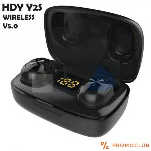 Безжични слушалки  HDY Y2S Bluetooth v5.0 Earphone Earbuds със зареждаща кутия
