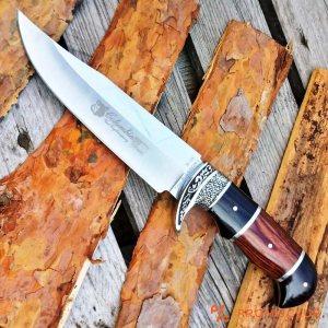 Огромен масивен ловен нож COLUMBIA G48 с инкрустации и трикомпонентна дръжка