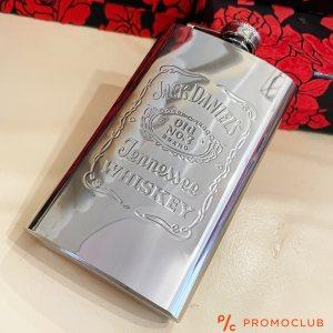 JACK DANIELS Подаръчна манерка за алкохол, неръждаема стомана, 177 мл