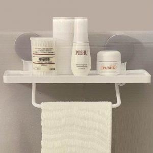 Класна вакуум стойка за баня за козметика и кърпа HQJ 217, до 4.0 kg