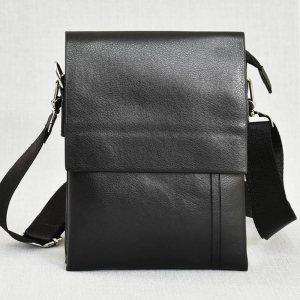 Красива мъжка кожена чанта 8801-1 BLACK