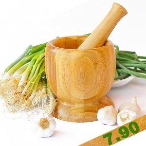 Бамбуково хаванче + чукало, подготвяйте подправки, билки и ядки за повече аромат и вкус