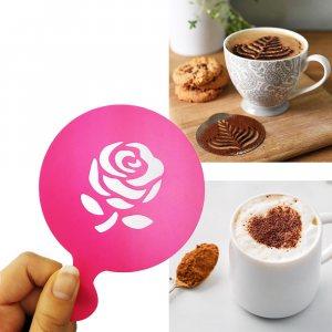 Шаблон РОЗА за поръсване и украса на топли напитки и сладки изделия, 1 бр.