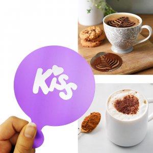 Шаблон KISS за поръсване и украса на топли напитки и сладки изделия, 1 бр.