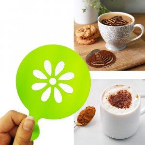 Шаблон ЦВЕТЕ за поръсване и украса на топли напитки и сладки изделия, 1 бр.