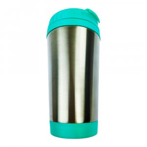 Метална термо чаша с капаче и удобен отвор за пиене - изолираща, 340 мл