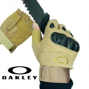 Тактически ръкавици OAKLEY New Khaki BEIGE 323 с половинки пръсти