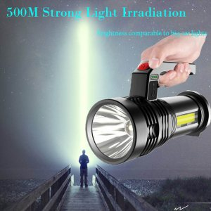 Изключително мощен соларен LED фенер с USB зареждане, P500 източник- лек и компактен