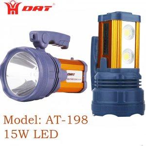 Невероятно мощен LED фенер DAT SEARCHLIGHT, 15W с USB и DC зареждане