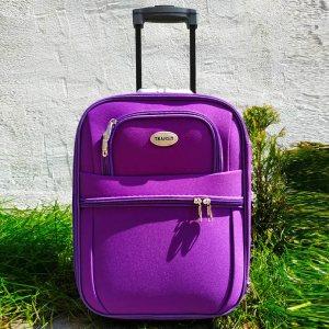 Куфар за ръчен багаж TRANSIT 701S PURPLE, текстилен с 3 джоба, 45 х 33.5 х 17 см