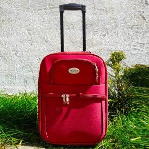 Куфар за ръчен багаж TRANSIT 701S RED, текстилен с 3 джоба, 45 х 33.5 х 17 см