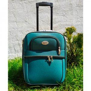 Куфар за ръчен багаж TRANSIT 701S DARK GREEN, текстилен с 3 джоба 45 х 33.5 х 17 см