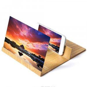 ЕКО 3D увеличителен екран за телефон - с дървен корпус