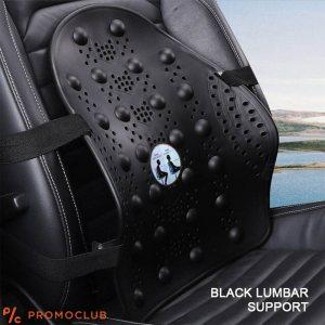 Облегалка - еластична лумбална пластмасова подпора черни